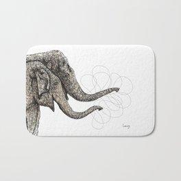 Couple of elephants Bath Mat