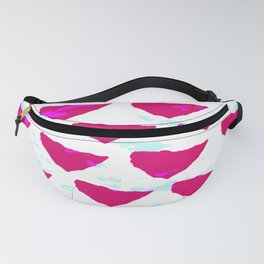 Geometrical abstract neon pink teal watercolor pattern Fanny Pack