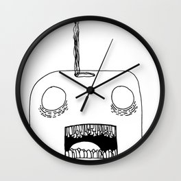 Hole in Head Wall Clock
