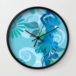 Cool Blue Salsa  Wall Clock