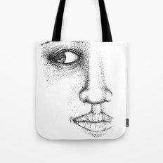 Fine Liner Stippling Girl 1 Tote Bag