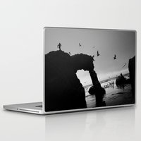 runner Laptop & iPad Skins featuring Arch Runner by Kevin Russ