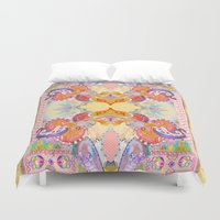 paisley Duvet Covers featuring Paisley  by Jenny Collicott