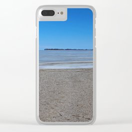 Maumee Bay in Winter II Clear iPhone Case