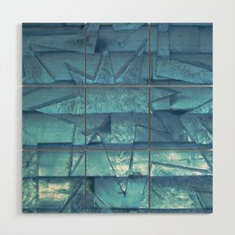 Ice Star Sculpture Wood Wall Art