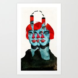 The cats in my head Art Print