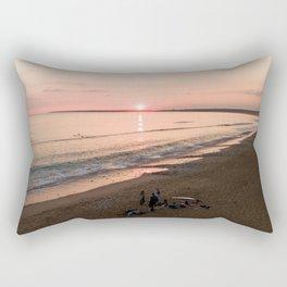 tranche sur mer france aerial drone shot sunset crew surf water Rectangular Pillow