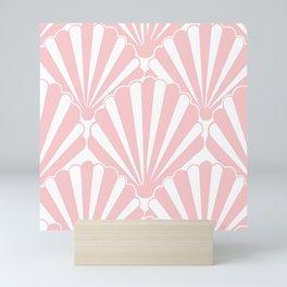 Art Deco Pink shell Coastal Home / Pink shells/ mermaids dream, Mini Art Print