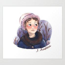 Jane Austen portrait Art Print