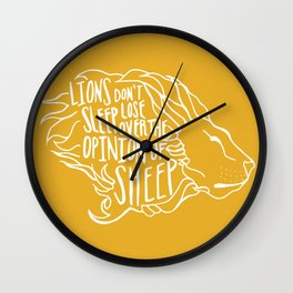 Lions don't lose sleep Wall Clock