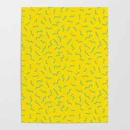 Postmodern Germs No. 1 in Canary Yellow Poster