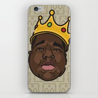 notorious big iPhone & iPod Skins featuring Notorious by DollarsandCents
