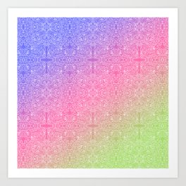 talk about a neon morning doodle, bright Art Print