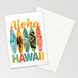 Retro Hawaiian Surfboard Aloha Hawaii Stationery Cards