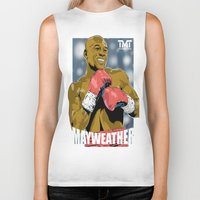 floyd Biker Tanks featuring Floyd Mayweather by Averagejoeart
