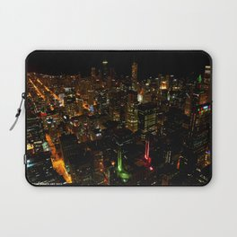 Night Skyline from Skydeck #1 (Chicago Architecture Collection) Laptop Sleeve
