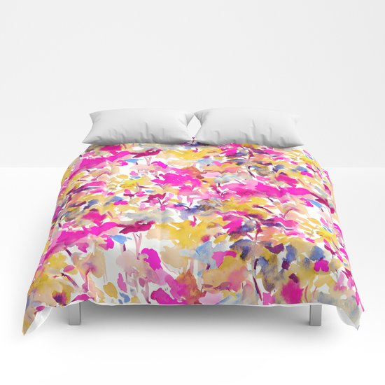 Local Color Yellow Pink Comforters