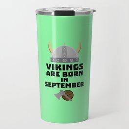 Vikings are born in September T-Shirt Dmnk2 Travel Mug