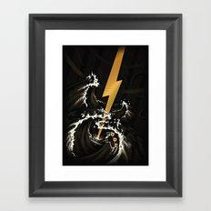 Electric Guitar Storm Framed Art Print