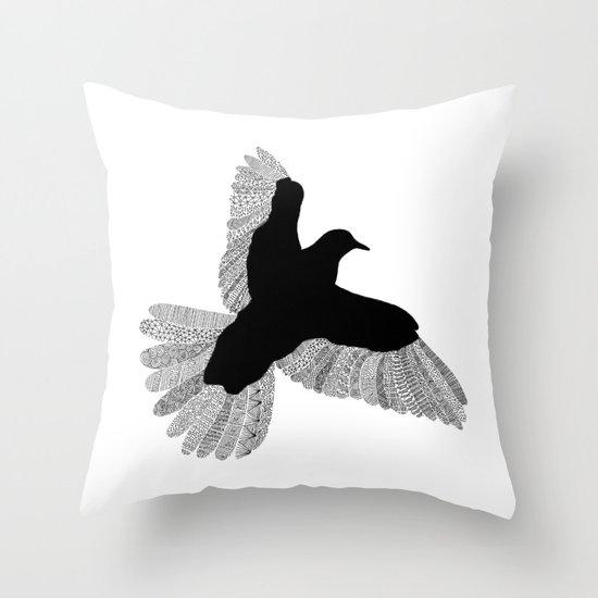 Bird (On White) Throw Pillow