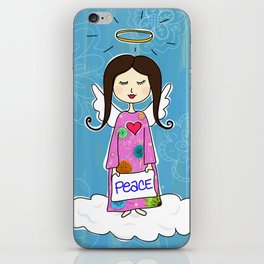 Angel In Doodle Heaven iPhone Skin