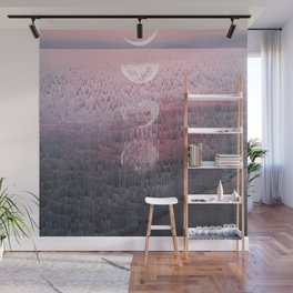 Glitches at Sunset Wall Mural