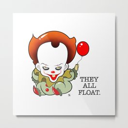 Pennywise From The Movie IT Metal Print