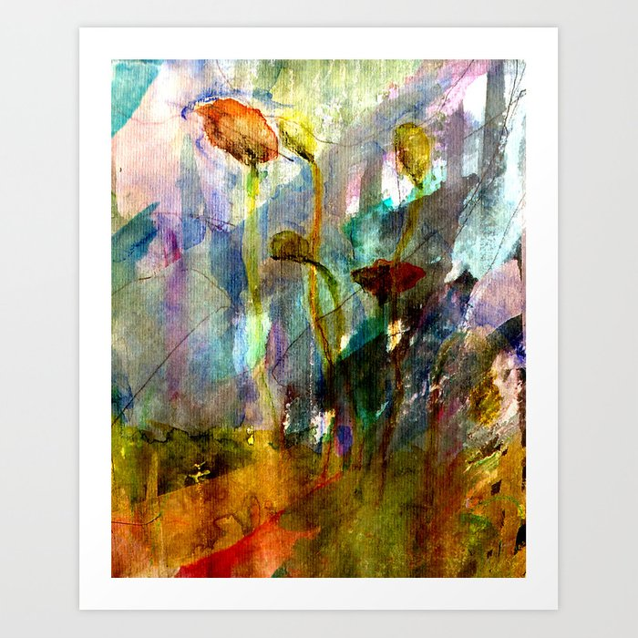 flowers on the field Art Print
