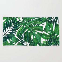 Jungle leaves Beach Towel