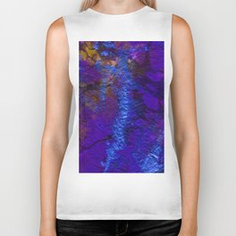 Purple Blue abstract marble Biker Tank