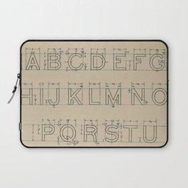 Vintage Block Font Laptop Sleeve