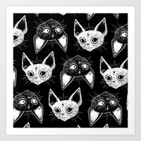 kittens Art Prints featuring Kittens  by lOll3