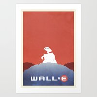 wall e Art Prints featuring Wall E by Mattias Fahlberg