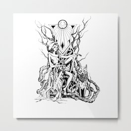 Red Riding Hood Metal Print
