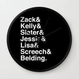 Saved By The Bell Wall Clock