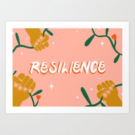 """Resilience"" inspired by Lauren Kassan, The Wing Art Print"
