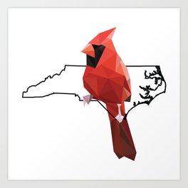North Carolina – Northern Cardinal Art Print