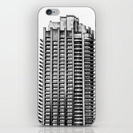 Barbican - Brutalist building illustration iPhone Skin