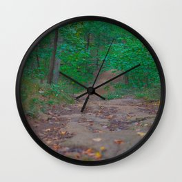 Road in the Woods Wall Clock