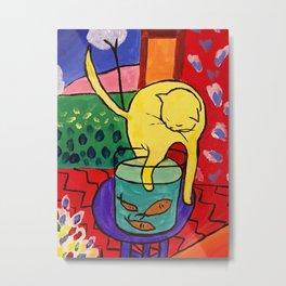 Cat with Red Fish- Henri Matisse Metal Print