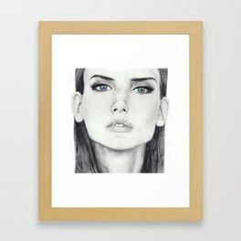 Dasha Dogusheva with Blue Eyes Framed Art Print