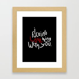 Being with you Framed Art Print