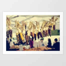Indian Corn at the Farmers Market Art Print