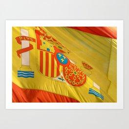 Spain in the focus Art Print