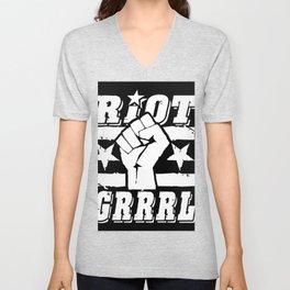Riot Grrrl Unisex V-Neck