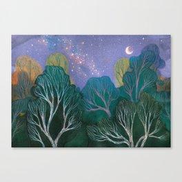 Starlit Woods Canvas Print