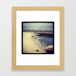 Seal Beach, La Jolla, CA Framed Art Print