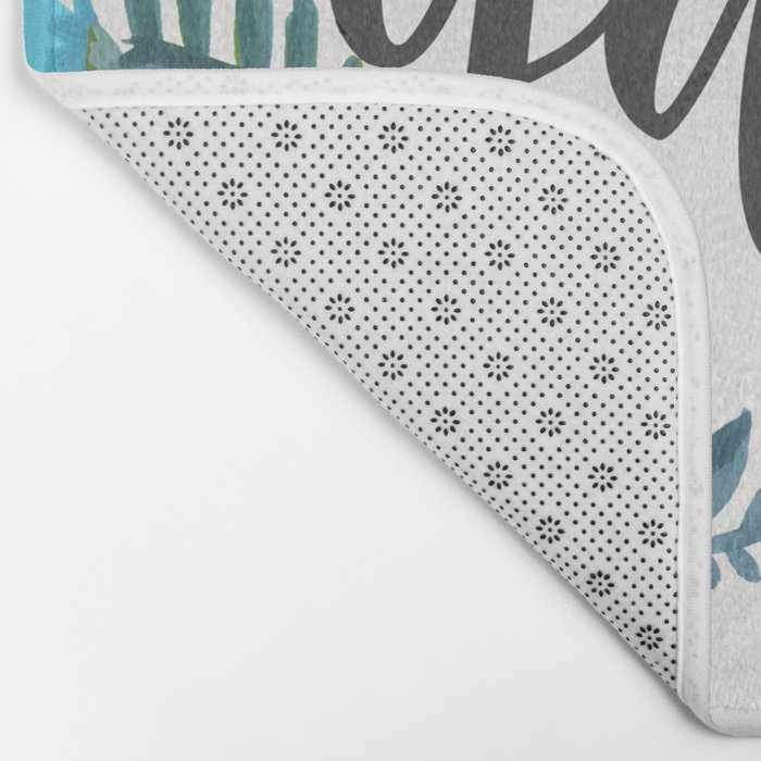 My Y'all is Authentic – Blue Palette Bath Mat