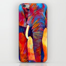 Elephant Watercolor iPhone Skin