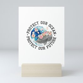 Love Ocean graphic tee Mini Art Print